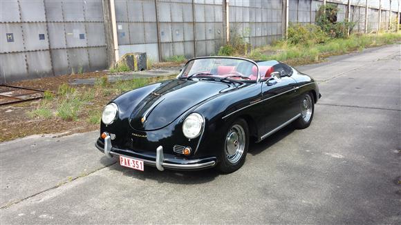 Oldtimer Te Huur Porsche 356 Speedster Apal Zwart Cabrio